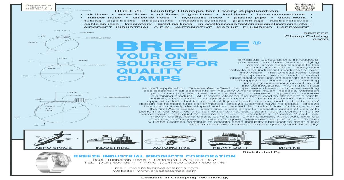 Breeze Hi-Torque Pack of 10 Super Heavy Duty Clamp Min Dia 1 Max Dia 1-3//4