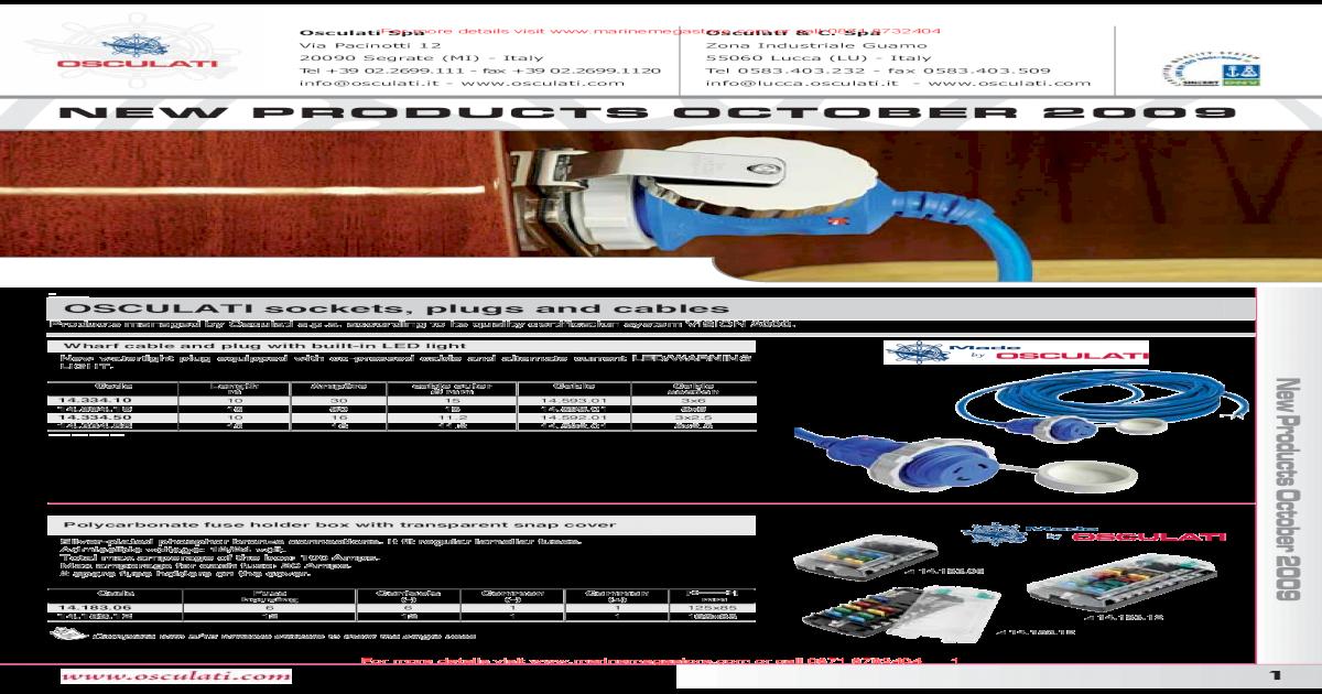 Osculati Four-Bracket Set For Fenders