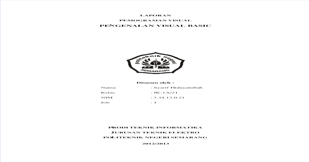Laporan Vb Net Pdf Document