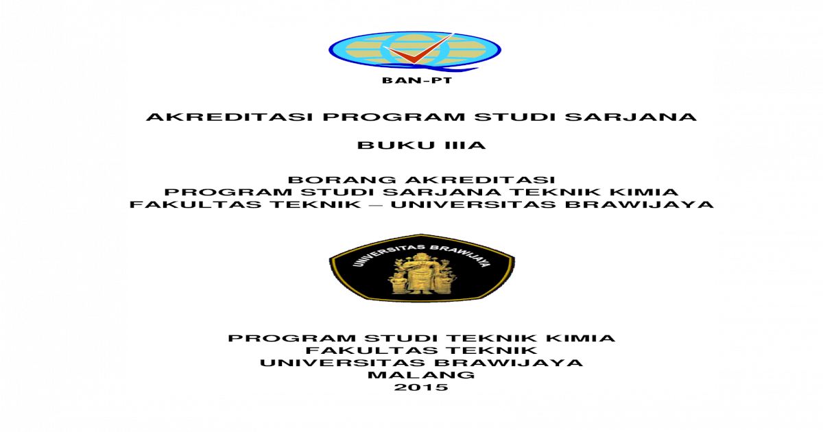 Borang 3a Ps S1 Teknik Kimia Ft Ub Pdf Document