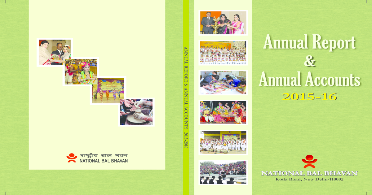 Annual Report Annual Accounts Government of India