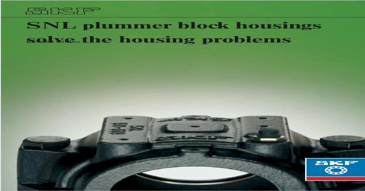 SKF SNL-513-611 Split Plummer Block Housing  USED