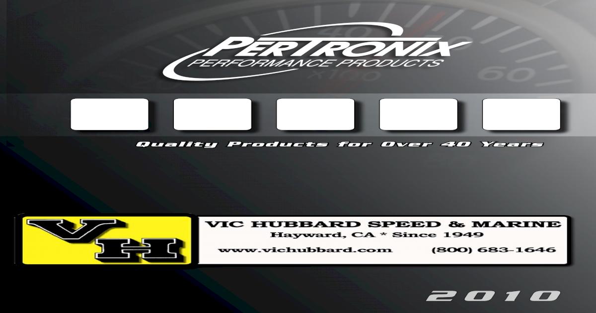 PerTronix MARINE Billet Distributor Chevy 305 350 427 454 REVERSE Rotation