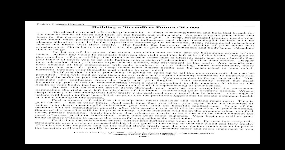 Cunningham pdf mark hypnosis Download MAJOR
