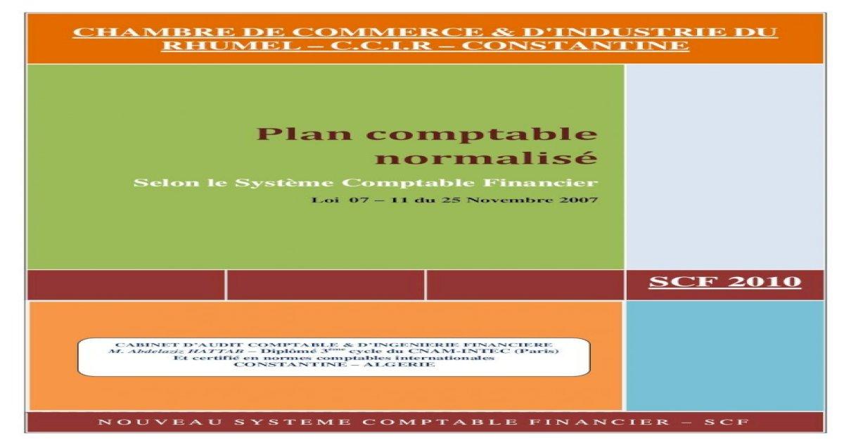 COMPTABLE PDF SCF PLAN TÉLÉCHARGER ALGERIE