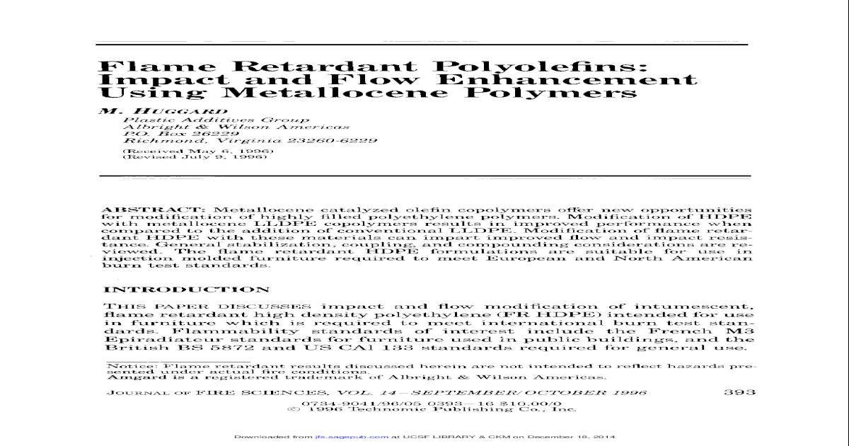 Flame Retardant Polyolefins: Impact and Flow Enhancement Using