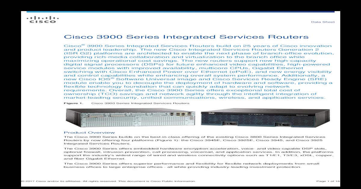 Cisco C3900-SPE250//K9 Services Performance Engine 250 CISCO3945E 1 Year Warranty
