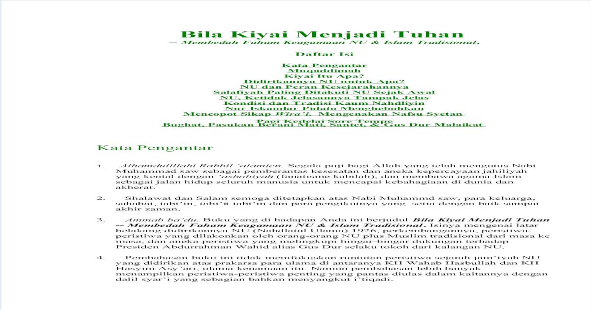 Bila Kiyai Menjadi Tuhan - [PDF Document]