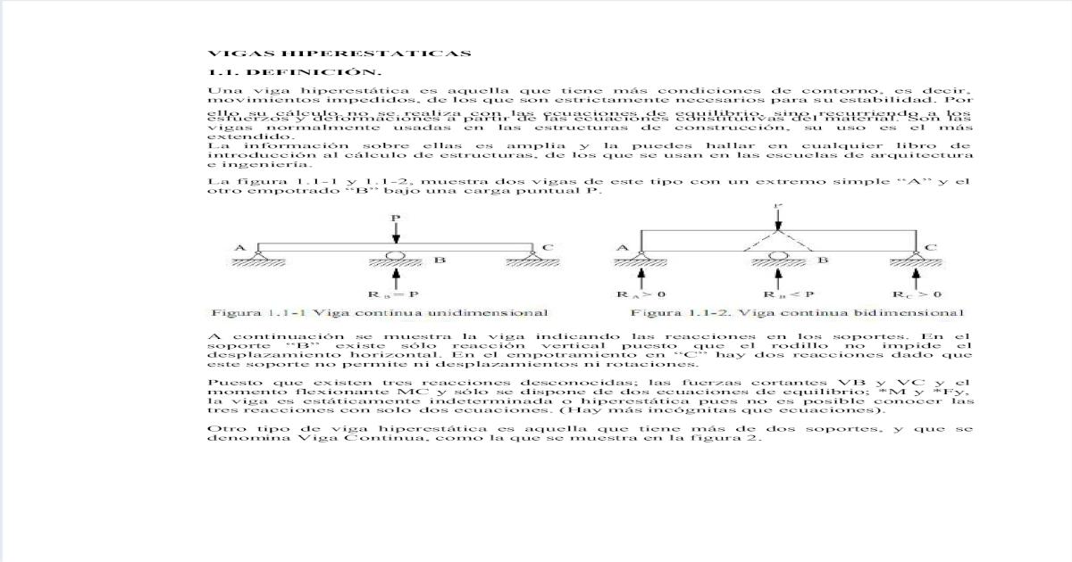 Vigas Hiperestaticas Consulta Pdf Document