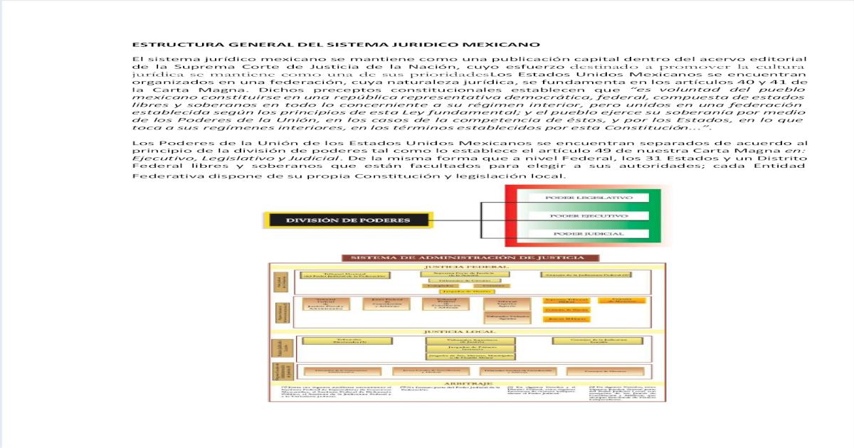 Estructura General Del Sistema Juridico Mexicano Pdf