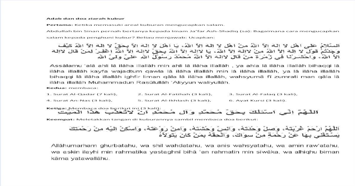 Elisa Article Free Download Doa Ziarah Kubur Pdf