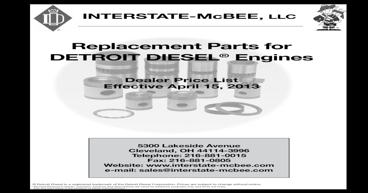 Detroit Diesel Gasket Oil Cooler Inlet 5167762