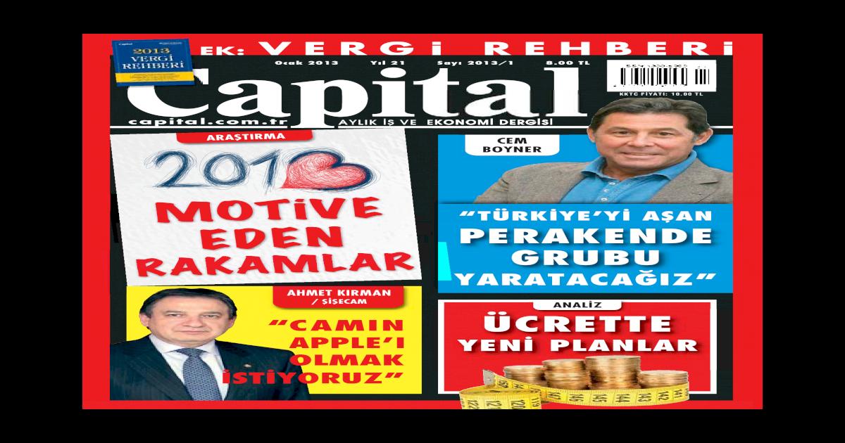 Capital Ocak 2013 Pdf Pdf Document