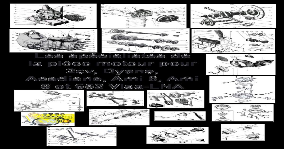 Tubulure admission collecteur d/'échappement de citroen dyane 2cv4 435cm3-60