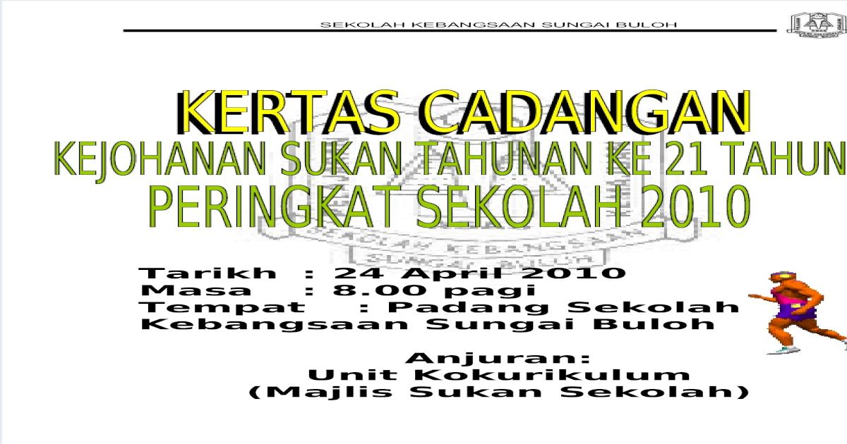 Gambar Hiasan Khemah Hari Sukan Sekolah  kertas cadangan pdf document