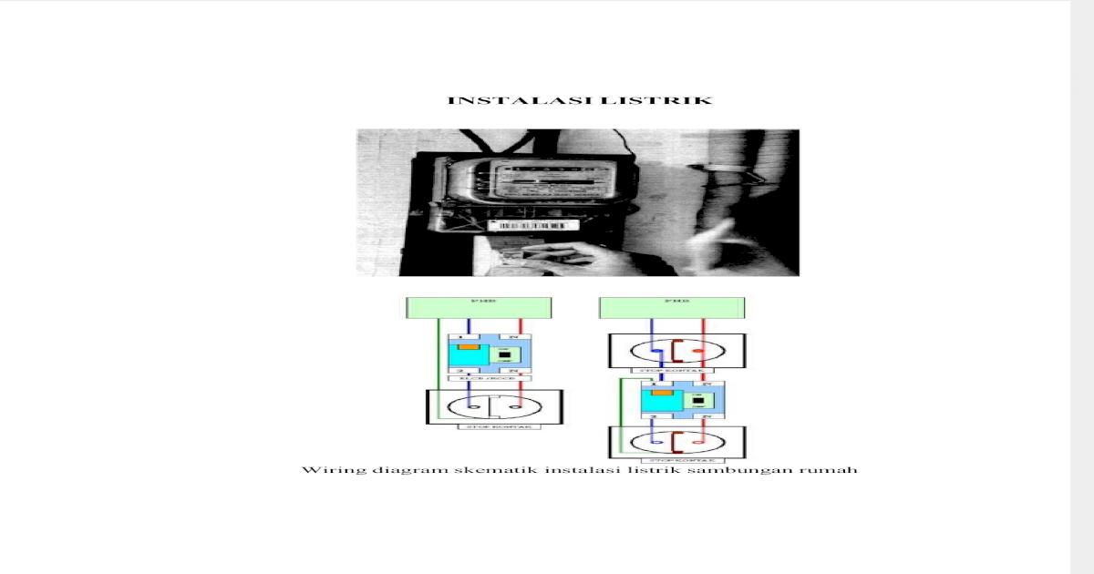 Wiring Diagram Skematik Instalasi Listrik Sambungan Rumah ... on