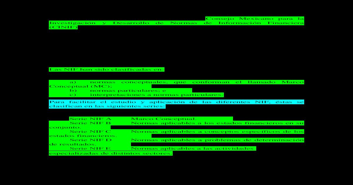 Resumen Nif Serie A Docx Document