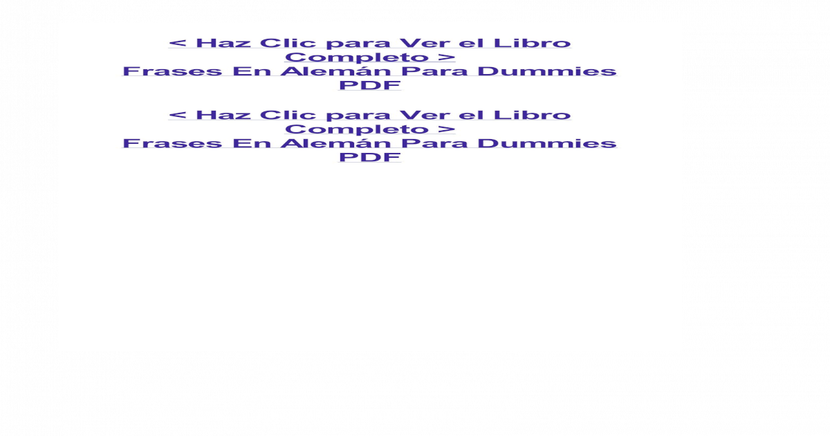 Frases En Alemn Para Dummiespdf Pdf Document