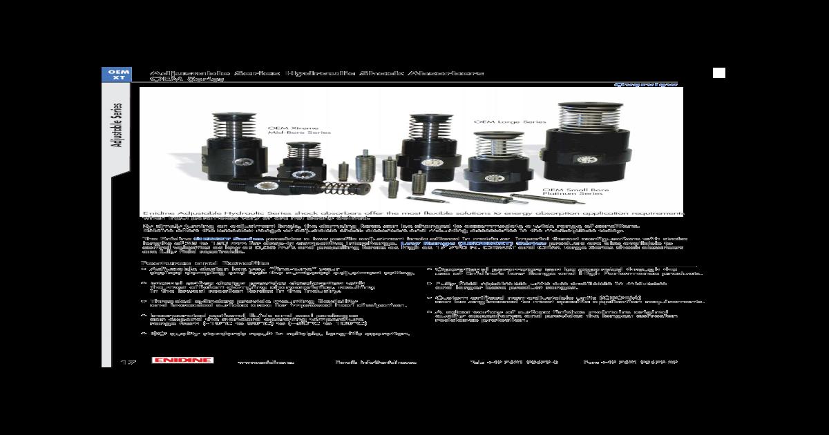 "Enidine OEM 1 1//8 x 6 1 1//8/"" bore x  6/""  Adjustable shock New"