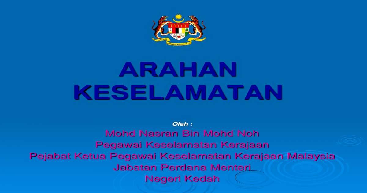 Arahan Keselamatan Pengurusan Intergriti Dan Keselamatan Pdf Document