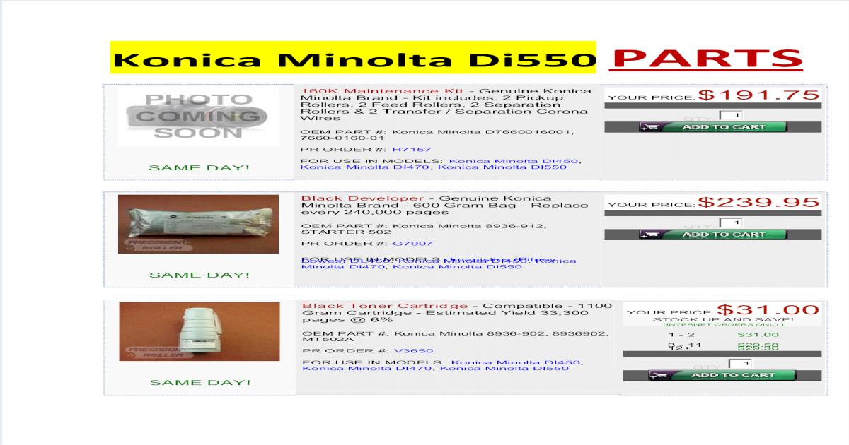 Genuine Minolta Product Starter Konica Minolta EP1080