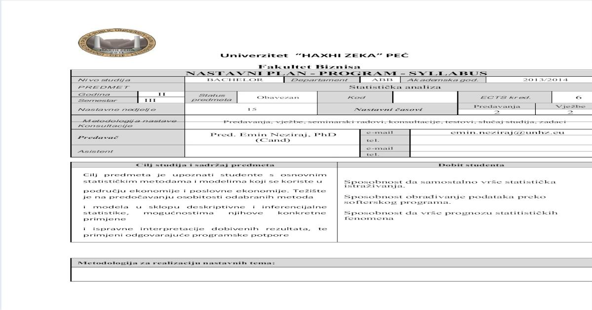 uniformna adresa e-pošte za upoznavanje