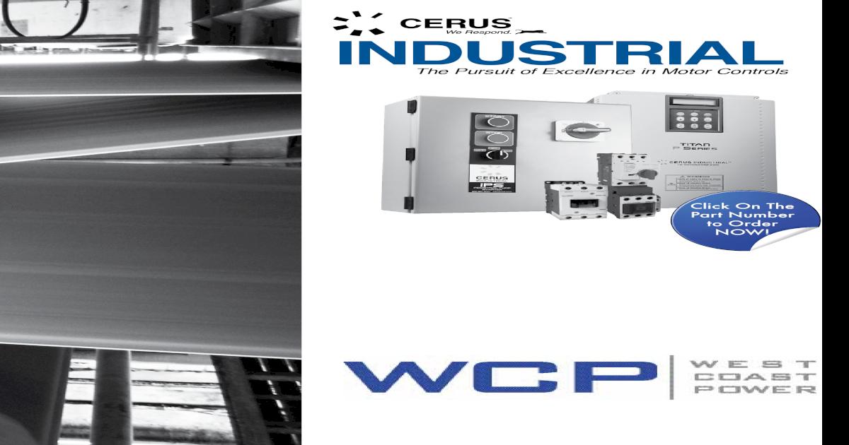 New Cerus Contactor Nema Size 3 100Amp 120VAC Coil *2 Year Warranty*