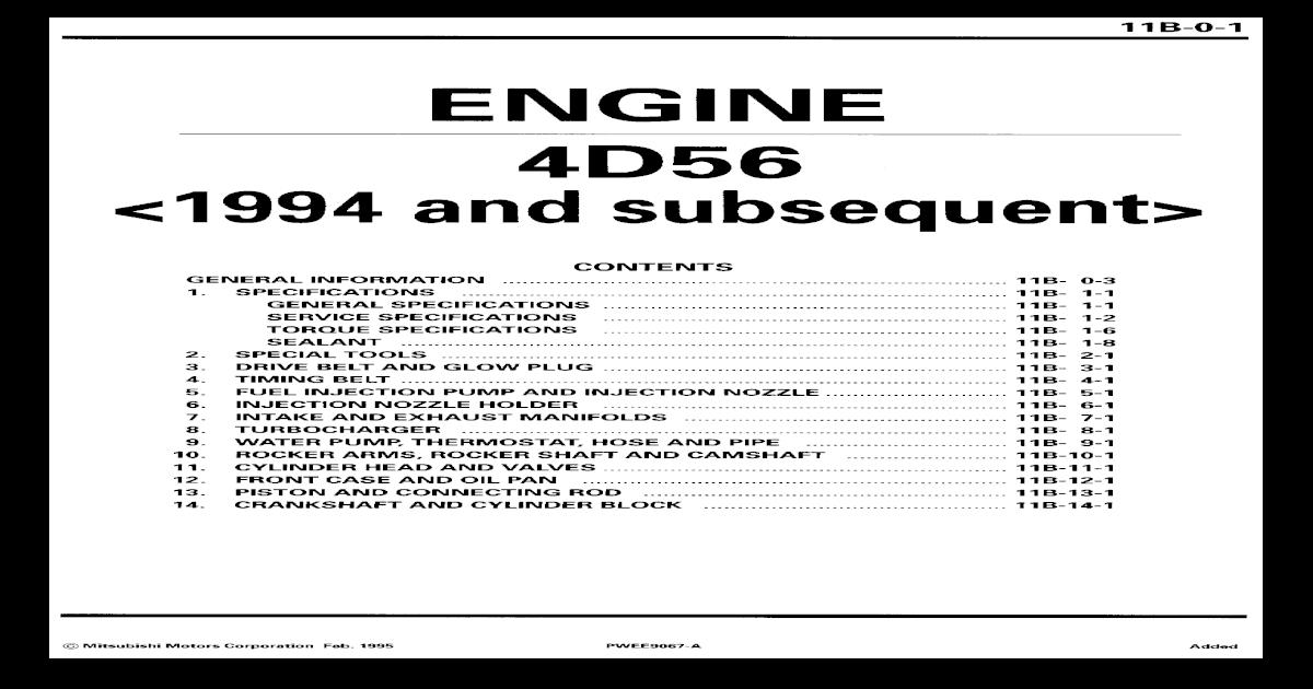 4d56 Complete Engine Torque Specs - [PDF Document]