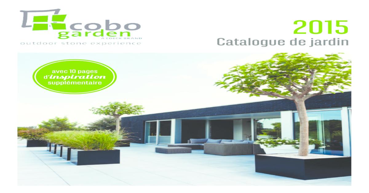 Catalogue De Jardin Cobo Garden 2015 Pdf Document