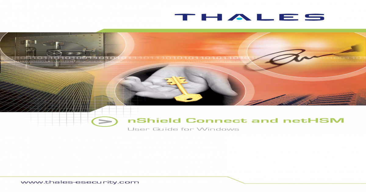 NShield Connect and NetHSM User Guide - [PDF Document]