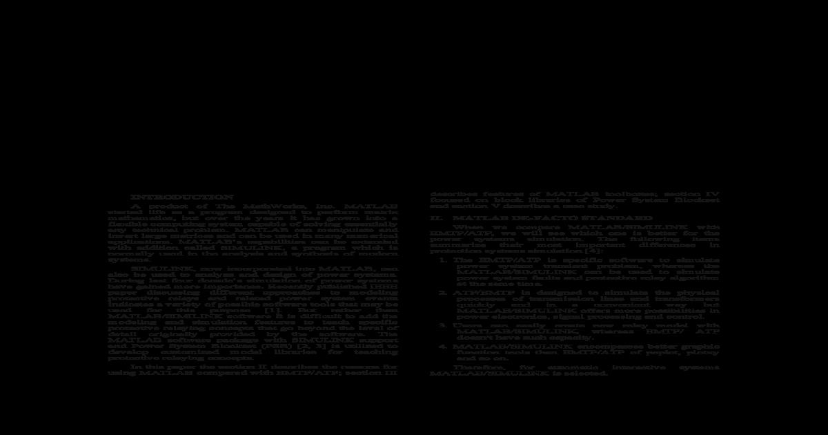 Simulink Power System Simulation Tool - [PDF Document]