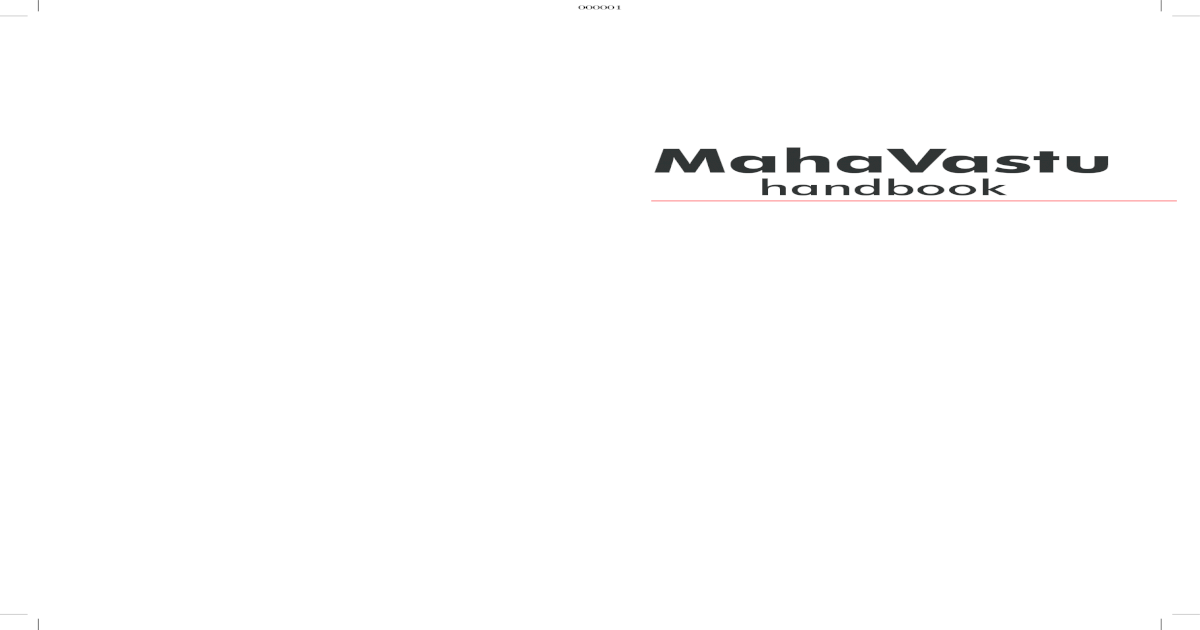 Mahavastu Handbook - [PDF Document]