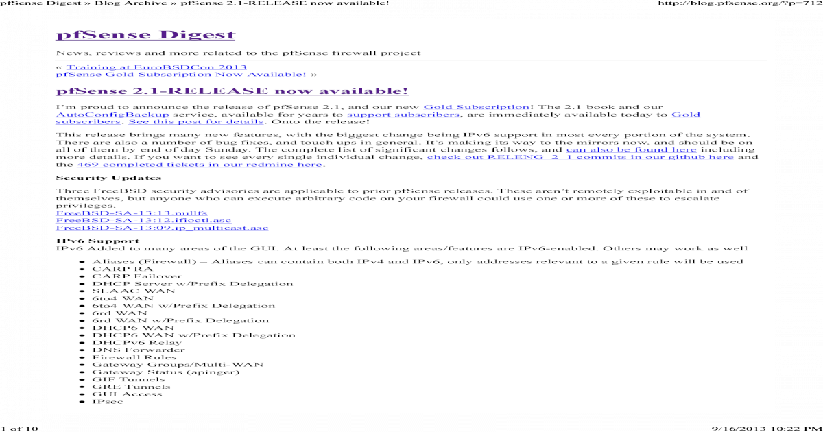 PfSense Digest (PfSense 2 1) - [PDF Document]