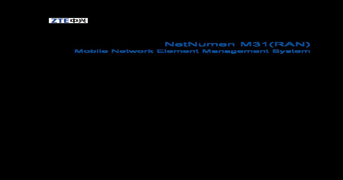 SJ-20101227165724-011-NetNumen M31 (RAN) (V12 10 032) MML