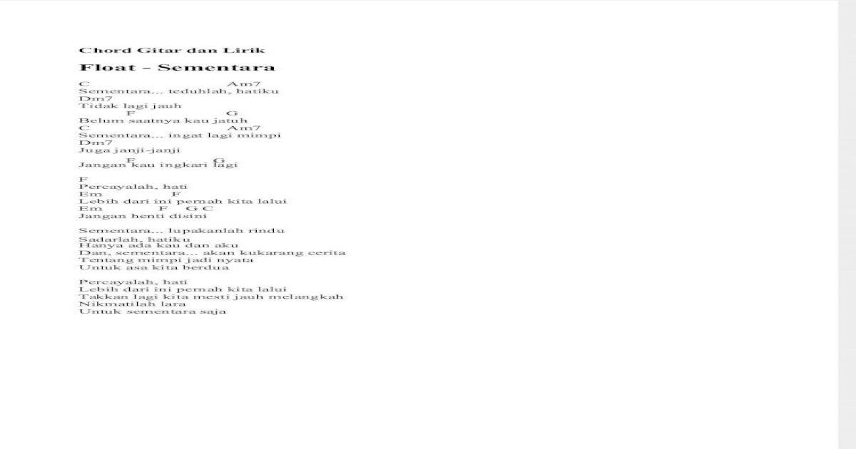 Chord Gitar Dan Lirik Pdf Document