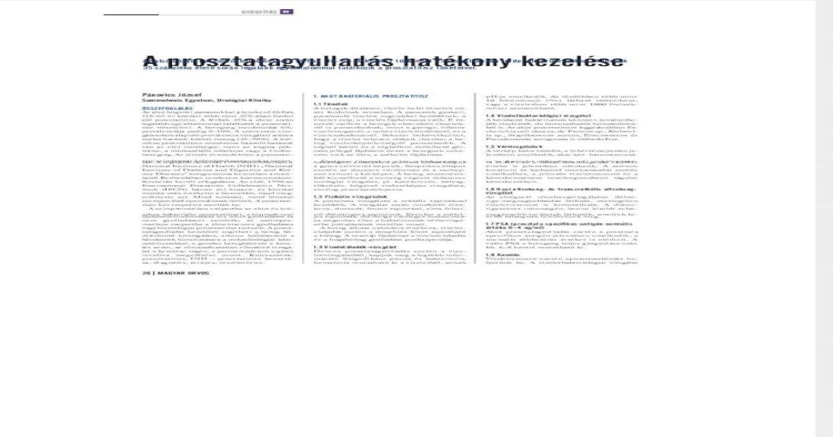 Gyertyák cinkkel a prosztatitis kezelésében Ciszta egy prosztata prosztatitisben